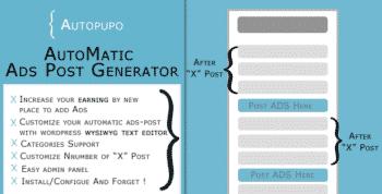 AutoPupo - Automatic Ads Post Generator Plugin