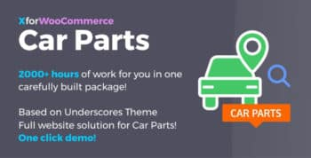 Car Parts for WooCommerce and WordPress - Full website solution!