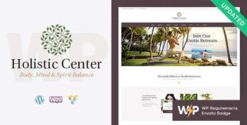 Holistic Center - Wellness and Spa Salon WordPress Theme