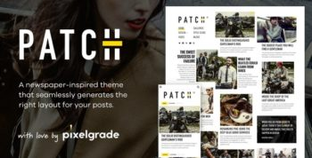 Patch - Unconventional Newspaper-Like Blog Theme