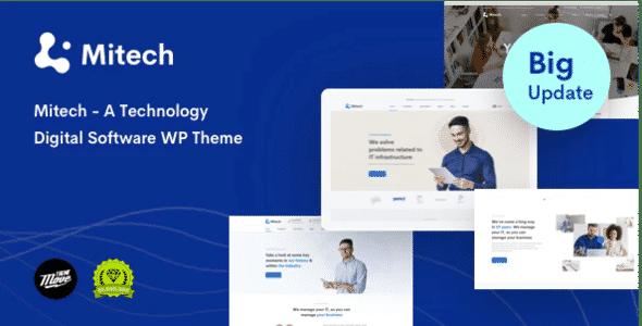 Technology IT Solutions & Services WordPress Theme - Mitech