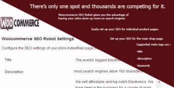 Woocommerce SEO Robot
