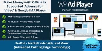 Ad Revenue Adsense for Video / Google IMA HTML Video Player