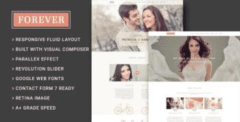 Forever - Wedding Couple & Planner/ Agency WordPress Theme