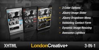 London Creative + ( Portfolio & Blog Template )