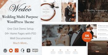 WedCo - Wedding Multi Purpose WordPress Theme