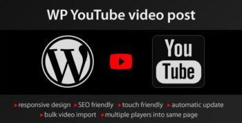 YouTube WordPress plugin - video import