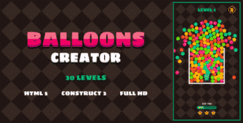 Balloons Creator - HTML5 Game (Construct3)
