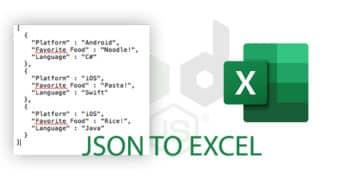 Jsonex - Convert JSON to Excel