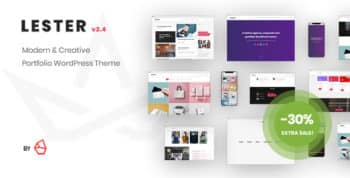 Lester - Creative Portfolio WordPress Theme