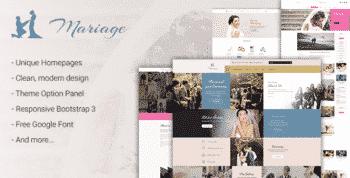 Mariage - Wedding WordPress Theme