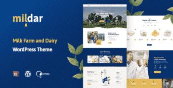Mildar - Dairy Farm WordPress Theme