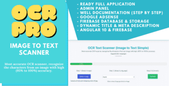 OCR Pro - Image to Text Converter (Angular 10 & Firebase) Full Production Ready App With Admin Panel
