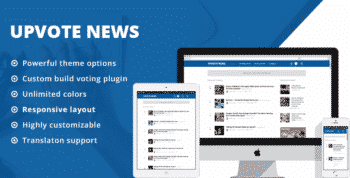 UpVote - Social Bookmarking WordPress Theme